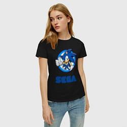 Футболка хлопковая женская SONIC SEGA цвета черный — фото 2