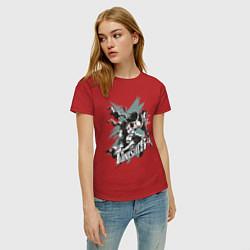 Футболка хлопковая женская The Punisher цвета красный — фото 2