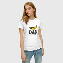 Футболка хлопковая женская Dolce and Banana цвета белый — фото 2