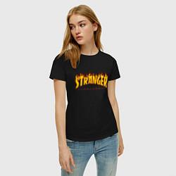 Футболка хлопковая женская STRANGER THINGS цвета черный — фото 2