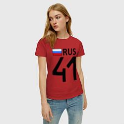 Футболка хлопковая женская RUS 41 цвета красный — фото 2