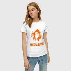 Футболка хлопковая женская Metal Gear Solid Fox цвета белый — фото 2