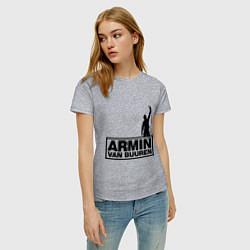 Футболка хлопковая женская Armin van buuren цвета меланж — фото 2
