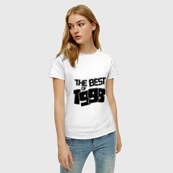 Футболка хлопковая женская The best of 1998 цвета белый — фото 2