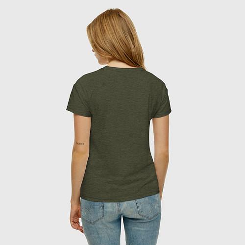 Женская футболка Soul Eater: White / Меланж-хаки – фото 4